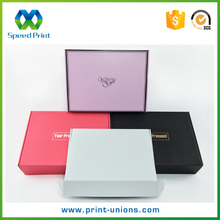 Eco-friendly recycle paper corrugated box white apparel packing box pink