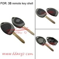 Car key blanks rubber head New style Toyota 3 buttons remote control key shell