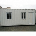 White standard prefabricated shipping container house for living