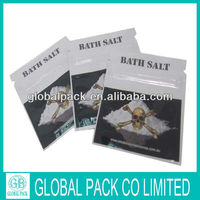 bath salt /three side sealed plastic bag