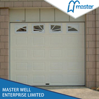 Flat Panel Modern Garage Door With Color Steel