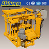Germany Hanover exhibited CE approved mobile cement hollow block machine best selling products