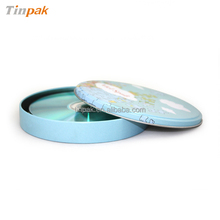 round cute tin cd case