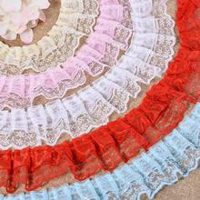 Organza Lace Gathered Pleated Sewing Trim S466