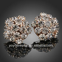 Wholesale unusual resin wholesale fashion gold earrings 2012 new design