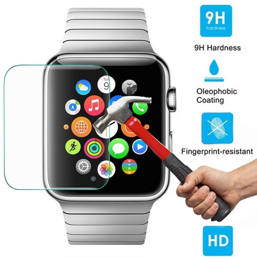 for apple watch 9h hardness tempered glass screen protector