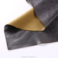 Chinese supplier polyester bronzing suede fabric with faux cotton velvet for sofa/upholstery