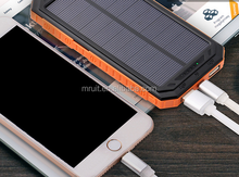10000mAh dual usb two people just one portable solar power bank charger