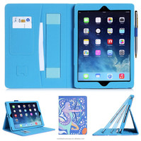 New Wwaterproof And Shockproof customized printing pu leather tablet case for ipad 6