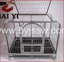 Stainless Steel Dog Kennels And Expanded Metal Dog Cage With Plastic Pallet