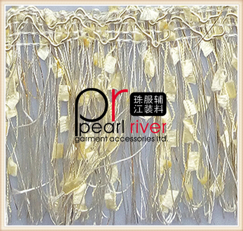 China manufacturer tassel string beaded trim for curtains