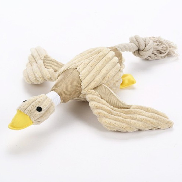 Best Selling Pet Stuffed Squeaky Chew Duck Toy Dog Toy