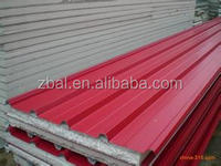 light weight building material EPS roof sandwich panel hot sale usually used factory price China supplier 2016 top quality
