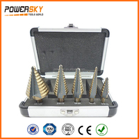 5pcs Step Drill Bit Set Hss Cobalt Multiple Cut Hole 50 Sizes Step Drill Case