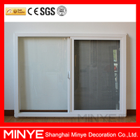 Competitive price upvc windows profile pvc sliding windows for shop