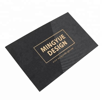 Custom luxury matt gold foil printing silver hot stamping black card paper business cards
