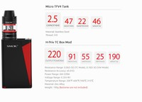 Smok H-priv 220W box mod electronic cigarette 2016 new coming advanced starter kit