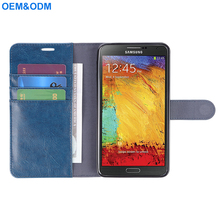 for samsung note 3 pu leather wallet cases with magnetic closure and back stand fuction
