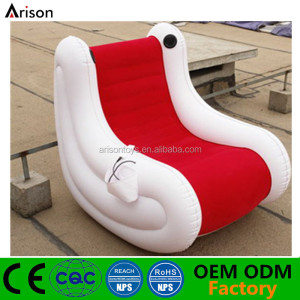 CE standard PVC inflatable flocked S shape music sofa music chair music lounge