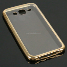 For SAM galaxy j5 j5008 metal shiny crystal clear rubberized silicone mobile bumpre case
