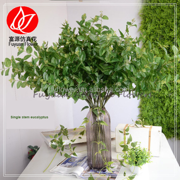 140140 Decorative Wreaths artificial plant factory direct pirce wholesale green eucalyptus leaf