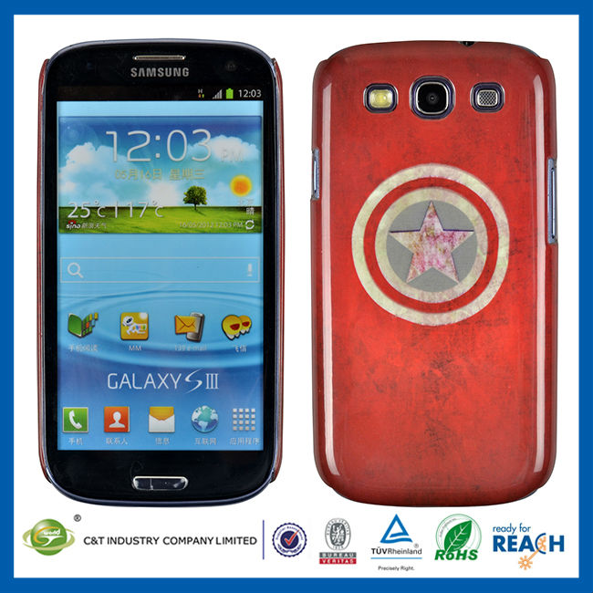Hot Sell Cute Hard Plastic funny case for samsung galaxy s3 I9300