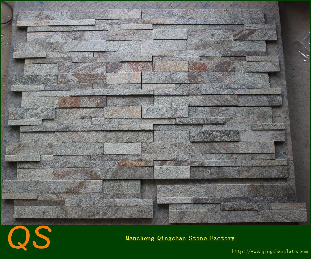 Decorative Green Flamed Quartzite Exterior Wall Stone Panels Buy Wall Stone Panels Interior