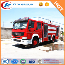 HOWO water and foam fire truck with 2 L foam tanker