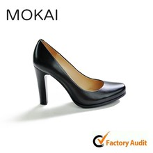 MK009-1 BLACK bulk wholesale customized ladies shoes,classic genuine leather ladies high heel pumps