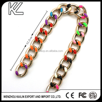 Plastic Shoe Accessories Chains With High