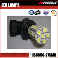 27SMD Yellow lamp universal special 10 flux small 3w 4v high power fix smart safety power compact car LED Lamp AM7-12