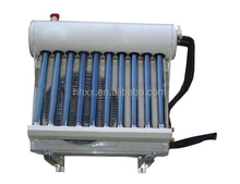 Hybrid vacuum tube solar thermal powered system energy saving air conditioner
