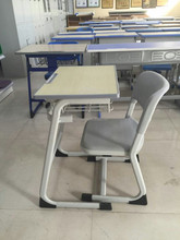 Detached furniture single seat school desk and chair design