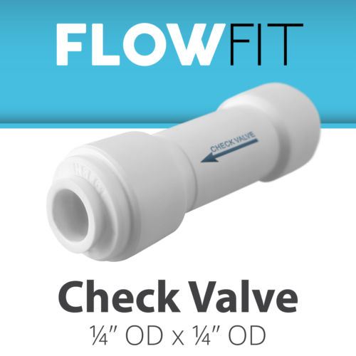 "Straight Check Valve 1/4"" Fitting Connection for Water Filters / RO Systems water quickly connector"