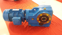 K series helical bevel foot mounted gear speed reduction motor reducers