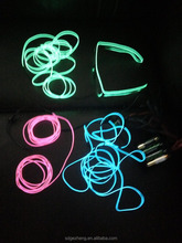 3.2mm 4.0mm electroluminescent wire glowing in dark for Christmas decoration in Germany Belgium Ireland