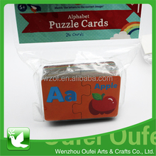 Jigsaw puzzle shrink film packaging literacy puzzle cards for kids education
