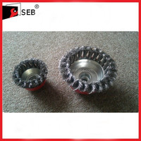 Knot Wire Cup Brushes for Deburring and Cleaning SEB-WB111107