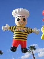 Inflatable advertising chef helium balloon, huge inflatable cook cartoon for sale K7114