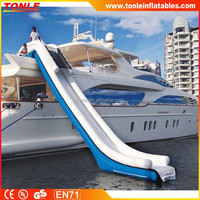 commercial garde floating water yacht/ dock inflatable water slide/ waterslide for yach dockfor sale