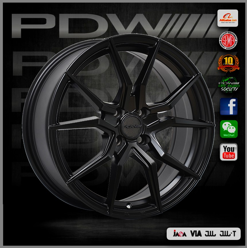 PDW brand mag wheels, China alloy wheels factory since 1983