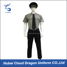 Grey security guard uniform best security uniform for sale