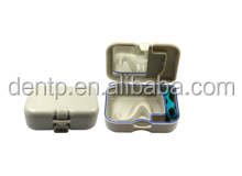 Colored rectangle plastic false teeth container/dental orthodontic retainer case/denture storage box