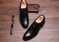 Fashion black dress Shoes Genuine Leather 2017 Men's Oxford Shoes