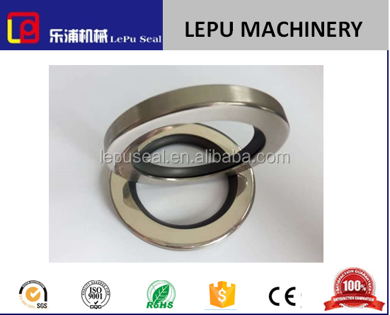 double lip oil seal metal frame with PTFE seal strip inside