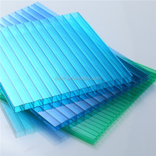 UV Coated Twinwall Hollow Polycarbonate Sheet solar polycarbonate panel for Greenhouse