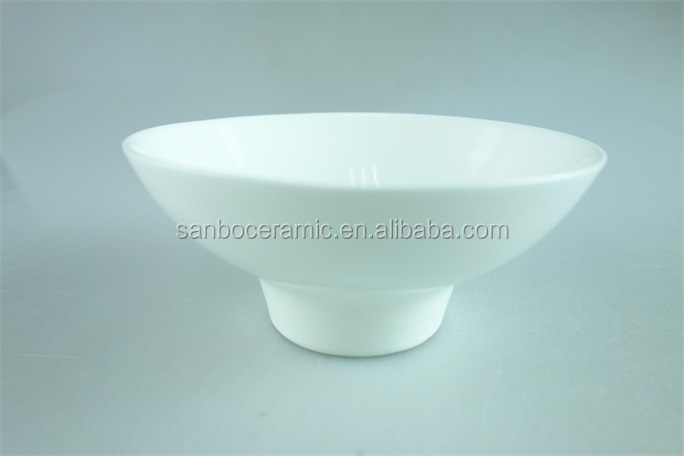 porcelain white 5.5inch rice bowls with stand