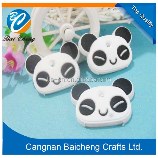 chinese panda key cap holders with nice rings to prptect your door key also can decorate with soft pvc material for business