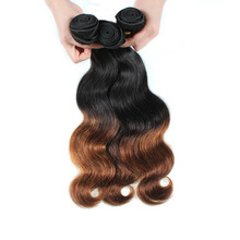 Natural Black and blond Brazilian Wave Hair Weft
