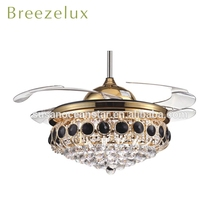 European style indoor ceiling fan antique noble crystal angel chandeliers